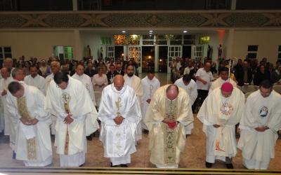 Em missa do Crisma, padres da Diocese de Erexim renovam promessas sacerdotais