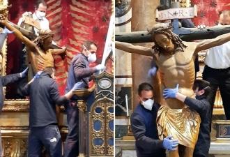 Crucifixo do Cristo milagroso ...